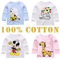 ON SALE Spring Fall Girls Cotton T shirt Cartoon Elephant Children Kids Baby Girls Tshirt Long Sleeve Clothes Girl Tees Tops New