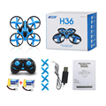 3.7v 150mah JJRC H36 4-Axis Mini Drone 2.4G Remote Control 3D Rolling RC Helicopter w/ 2 Batteries Dron Flying Toy