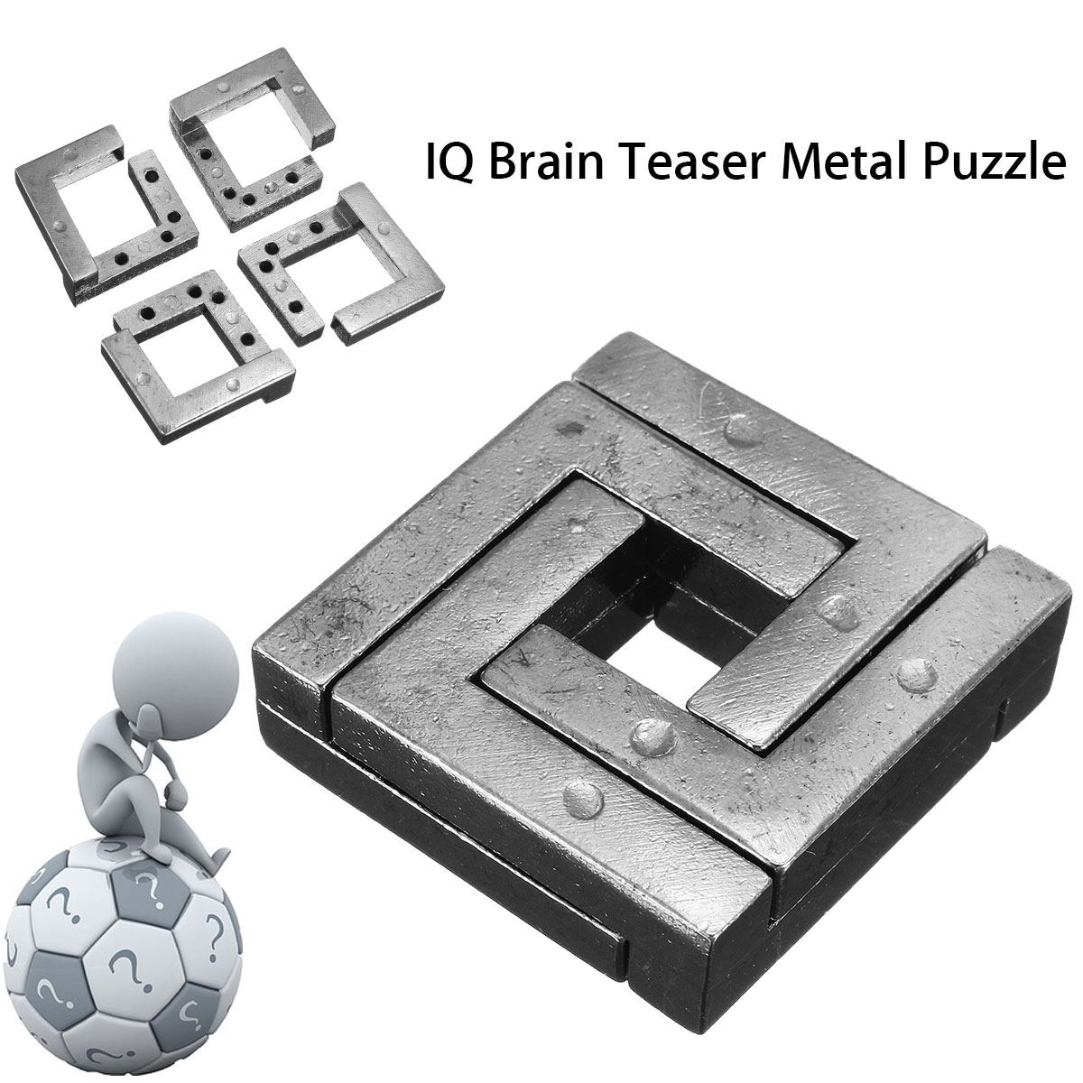 Metal Puzzle IQ Mind Brain Game Teaser Square Educational Toy Gift For Children Adult Kid Game Toy metal puzzle iq mind brain game teaser square educational toy gift for children adult kid game toy