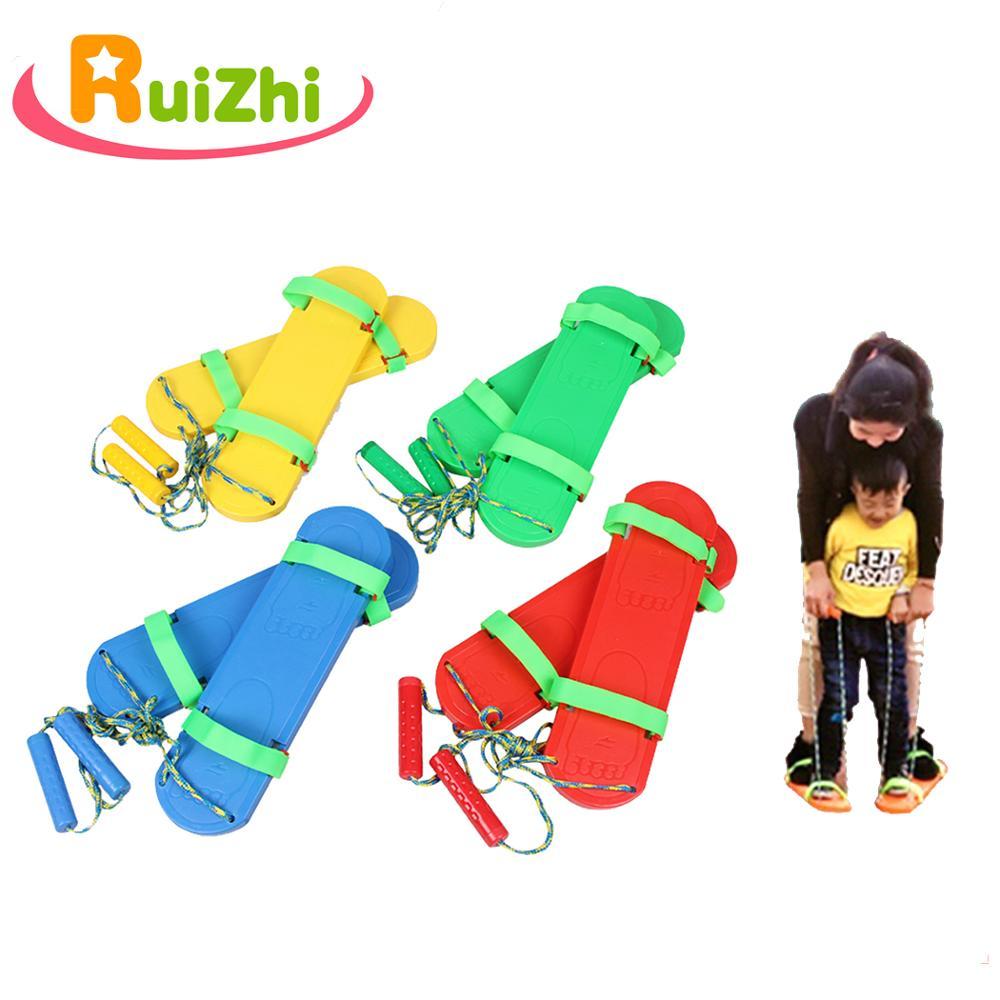 Ruizhi 1 Pair Children Synchronous Shoes Outdoor Teamwork Game Fun Sports Kids Toy Board Kindergarten School Activities RZ1049