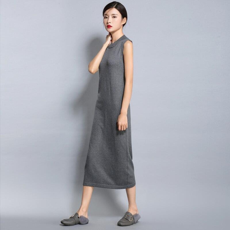 adohon 2018 női tavaszi kasmír ruhák és nyári nők kötött - Női ruházat