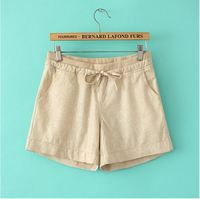 Summer New Large Size Women S Large Size Women Cotton Shorts Female Casual Linen Shorts