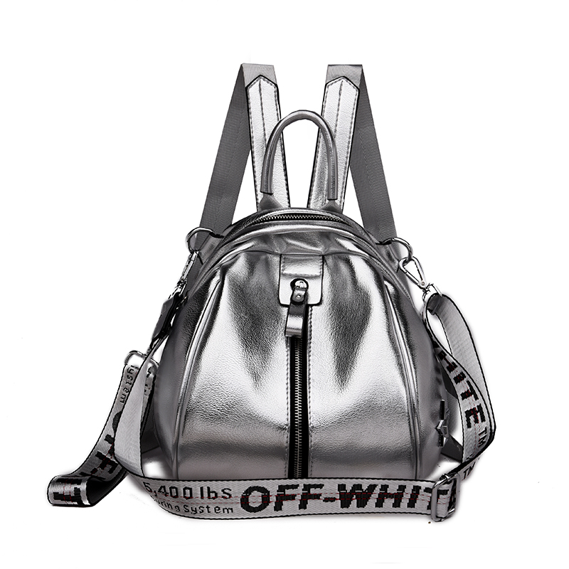 Women Backpack Soft Leather Small Bag Pack Female Travel Backpack Mini Shining Leather Female School Backpack For Teen Girls Bag
