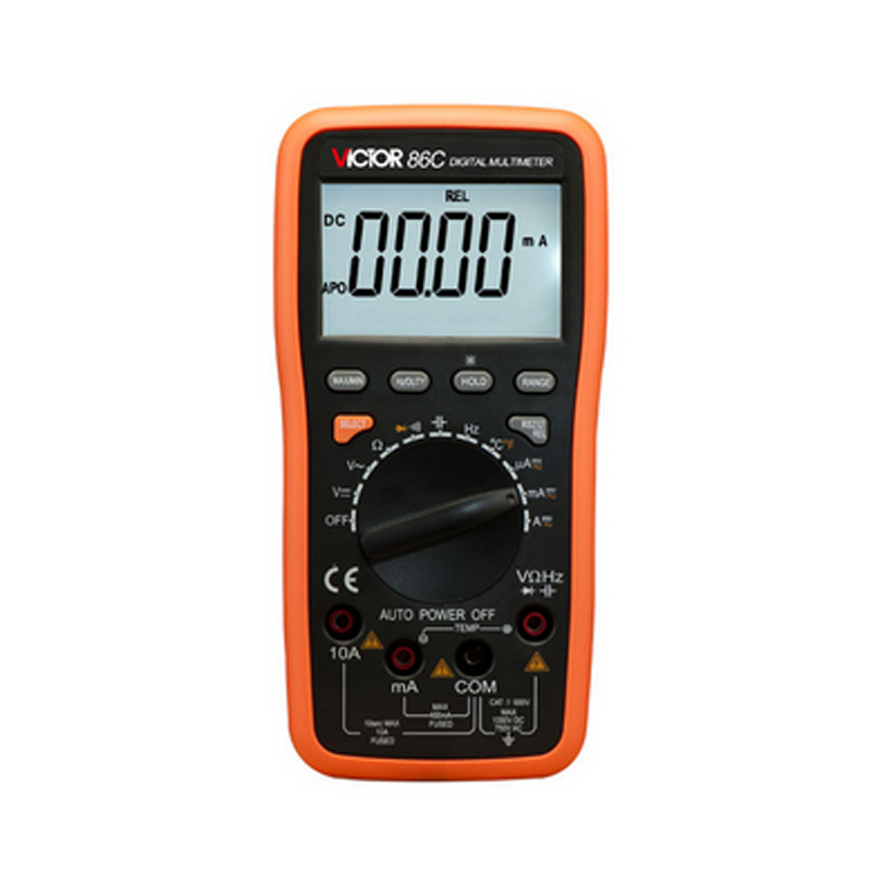 Ammeter Multitester VICTOR 86C  3 3/4 Digital Multimeter AC DC Resistance Capacitance Frequency Victor Multimeter mt 1280 c 3 1 2 digital multimeter dc ac voltage current capacity resistance tester beep ammeter multitester temperature