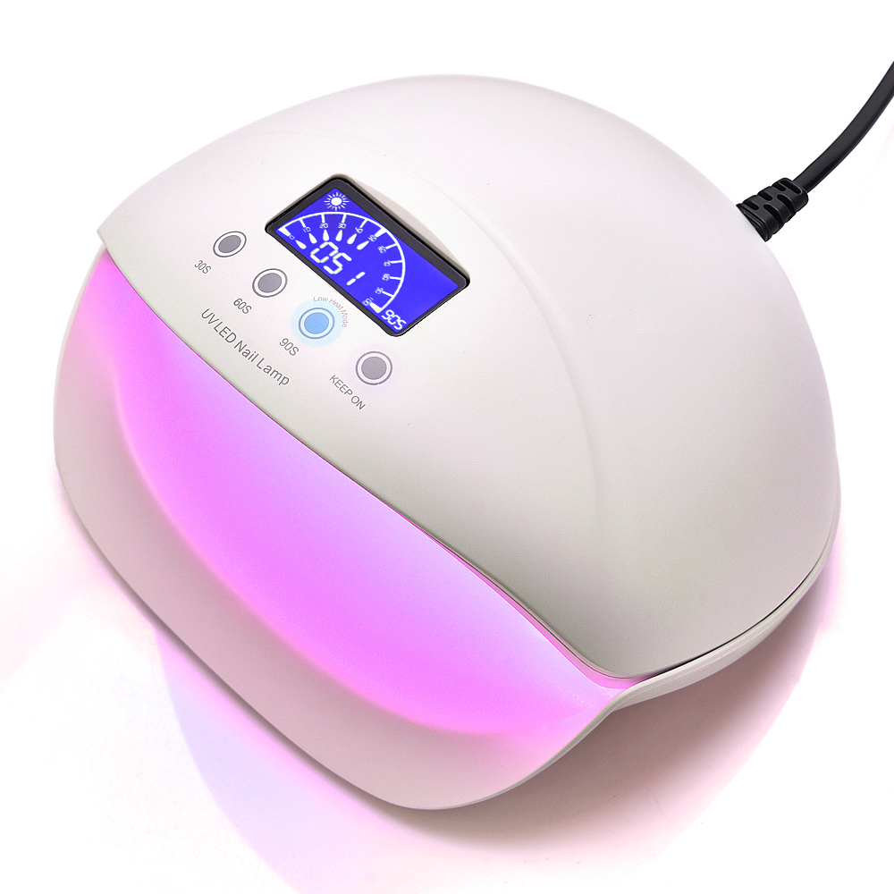 50W Nail Dryer 28 LED Lights Smart UV Lamp with Infrared Red Nail Beauty for Manicure Pedicure Polish Curing Nail Art Care Mode 50w uv led lamp nail dryer 28pcs led light with infrared red light skin care mode nail lamp for curing gel polish manicure tools