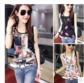 Hot Sale T Shirt Women 2016 Summer Unique Print Tops Short SleeveT-shirts Women Plus Size Tshirt Pure silk Tee Shirt Femme
