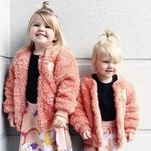 Bobozone зима новый мальчики девочки одежды младенца нечеткие пальто