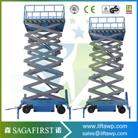 Electric Mobile Hydraulic Scissor Lift of 10m Height