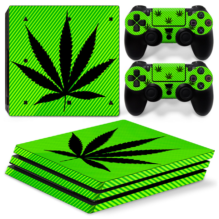 for PS4 Pro Skins Sticker Vinly Decal Cover for Sony PS4 PlayStation 4 Pro Console and Controller weed TN-P4Pro-0188