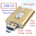 Hot usb 3.0 flash drive for iphone 5/6/s plus pen drive OTG for Lightning mirco usb 3.0 flash card 512/32/64/128GB usb stick 3.0
