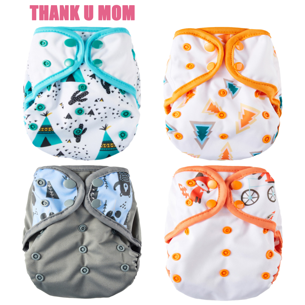 One Size Diaper Cover Cloth Diapers Breathable PUL Baby Nappy S M L Adjustable Fit 8-35 Pounds Babies