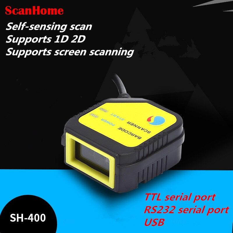 2018 nuevo escáner para QR escáner módulo de cabeza fija motor de escaneo SH-400 USB/Serial TTL APOYO DE screen1D 2D código