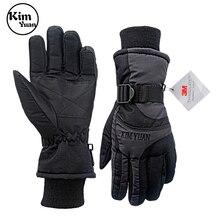 Зимние перчатки для лыж и сноуборда, водонепроницаемые перчатки с Thinsulate 3M для холодной погоды для мужчин и женщин