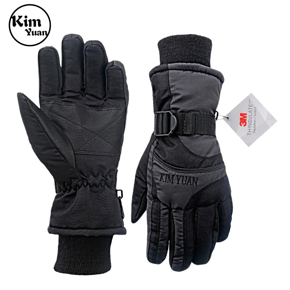 KIM YUAN Ski Snowboard Winter Gloves - Waterproof,3M Thinsulate, Cold Weather Gloves For Men & Women