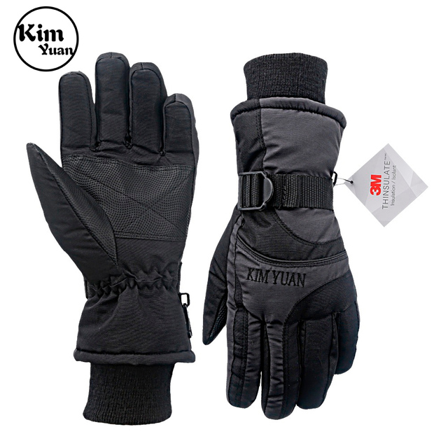 KIM YUAN Ski Snowboard Winter Gloves   Waterproof,3M Thinsulate, Cold Weather Gloves for Men & Women