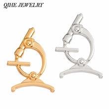 Qihe ювелирные изделия цвета: золотистый серебристый цвет микроскоп