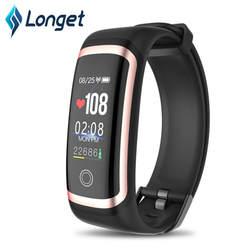 LONGET умный браслет с пульсометром, фитнес-часы цветной экран фитнес-трекер с монитором сна для мужчин женщин дети