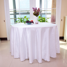 Upscale hotel cloth round table Pure color satin wedding meeting cover dust