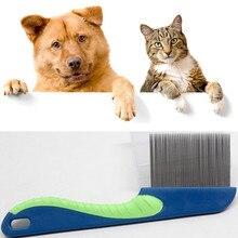 Высококачественная расческа для собак, профессиональная стальная расческа для ухода за собакой, кошкой, щетка для чистки собак, товары для домашних животных