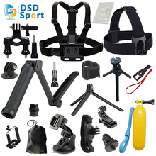 DSD TECH for GoPro three Way tripod head and chest mount accessories for gopro hero 5 4 3 2 session black sjcam xiaomi yi 08E