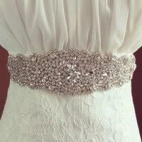 Handmade Trendy Magnificent Crystal Bridal Luxury Female Floral Dress Women Belts Diamond Waistband Girdle Headband for Wedding