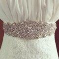 Hecho a mano Magnífico Cristal de Moda Nupcial de Lujo Femenina Vestido Floral de Las Mujeres Cinturones Waistband Faja Diadema de Diamantes para La Boda