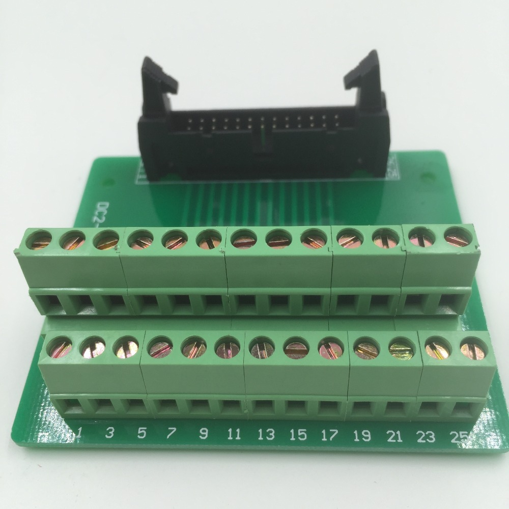 Hot Factory Direct Wholesale IDC26 male plug 26pin port header Terminal Breakout PCB Board block 2 row screw