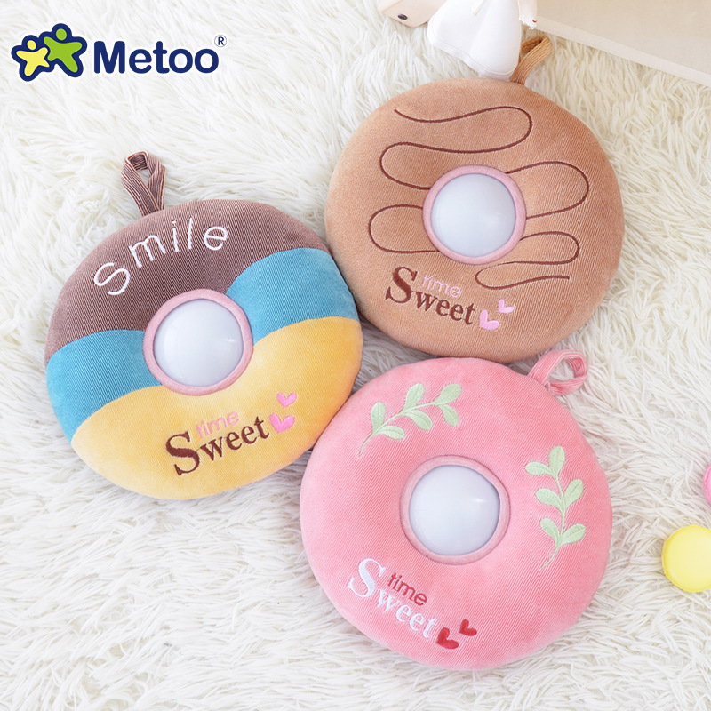 Donuts Plush Toys Nightlight LED Toys Baby Feeding Lights Child Sleeping Appease Toy Metoo Doll