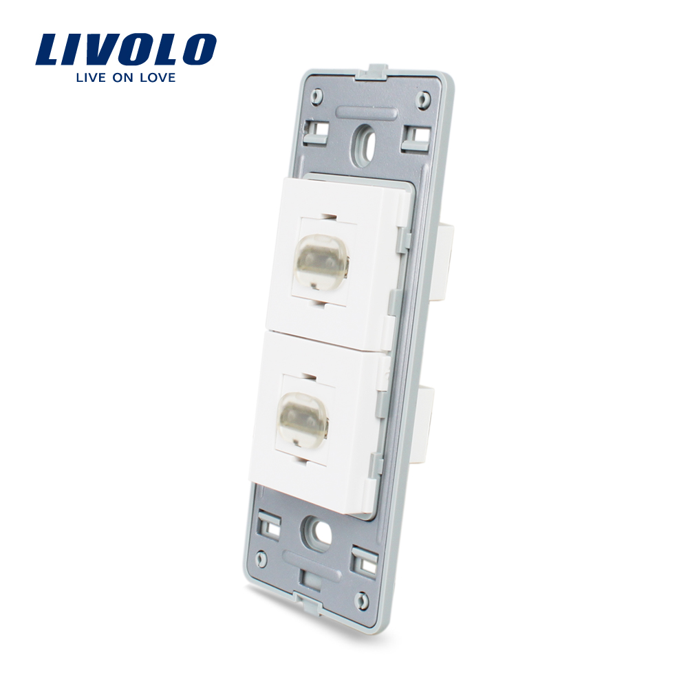 Livolo US Standard White Plastic Materials, Function Key For HDMI Socket,without the glass panel ,VL-C5-2HD-11/12