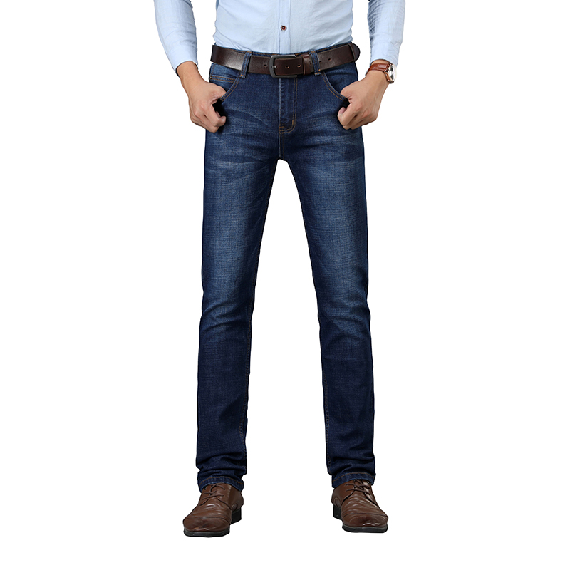 SULEE Brand New Men Skinny Jeans Stretch Fashion Classic Blue  Slim Brand Jeans Male Trousers Plus Size 38 40
