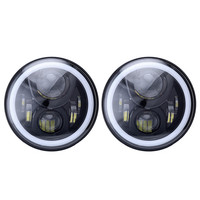 7 Inch Round Daymaker RGB LED Car Headlight With Cree Chrips Angel Eyes HI LO Beam