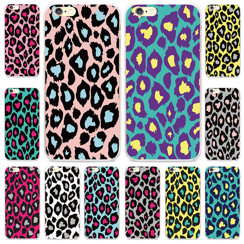Charm Leopard Printing Back Cover Sexy Style Pattern Capinha for  iPhone 5 5S SE 4 4S 6 6S 7 Plus SE Cover Phone Case