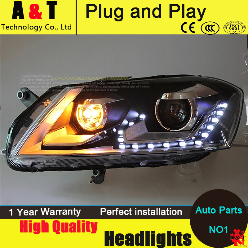 Car Styling VW Passat headlight assembly 2012-2014 Volks Wagen Passat B7 led Headlight head lamp led drl H7 with hid kit 2 pcs. набор автомобильных экранов trokot для vw passat b7 2010 2014 на передние двери tr0408 01