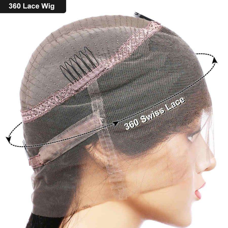 Elva 360 кружевных фронтальных париков волос для черный женский хвостик человеческие волосы парики предварительно выщипываются с ребенком волосы Remy волосы 360 фронтальный парик