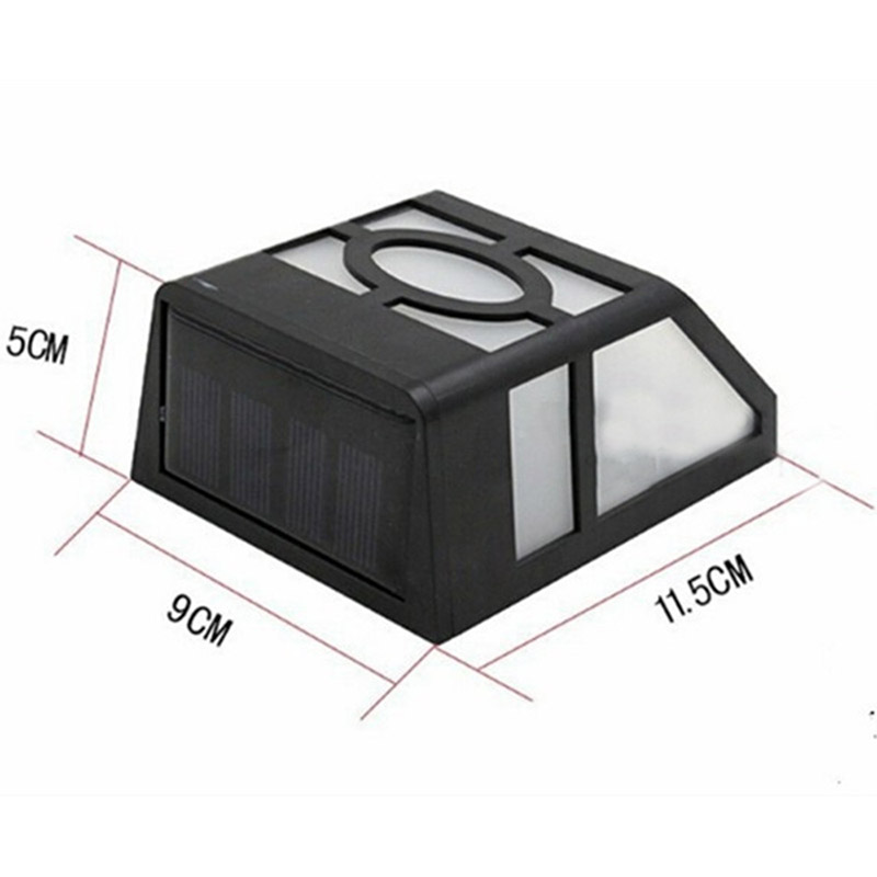 Waterproof Solar Wall Lamps ABS Path LED Solar Light Outdoor Garden Wall Lightings Yard Path Fence Lamp for Home Corridor