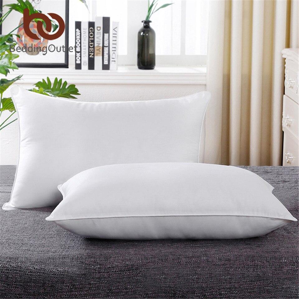 BeddingOutlet Travesseiro Baixo Alternativa 5 Estrela Lavável Microfibra Tecido Da Cama Do Hotel Para Baixo Travesseiro Pescoço travesseiro de Saúde Travesseiro Branco Macio