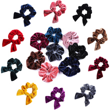 Soft velvet Scrunchie hair rope girls Elastic Hair Rubber Band Gum women tie rings Ponytail Holder wedding accessories