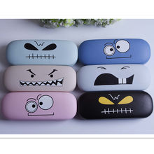 LIUSVENTINA Portable High Quality Cute Cartoon Eyes Expression Frame Glasses Box Sunglasses Case Gift for Girls and Friends(China)