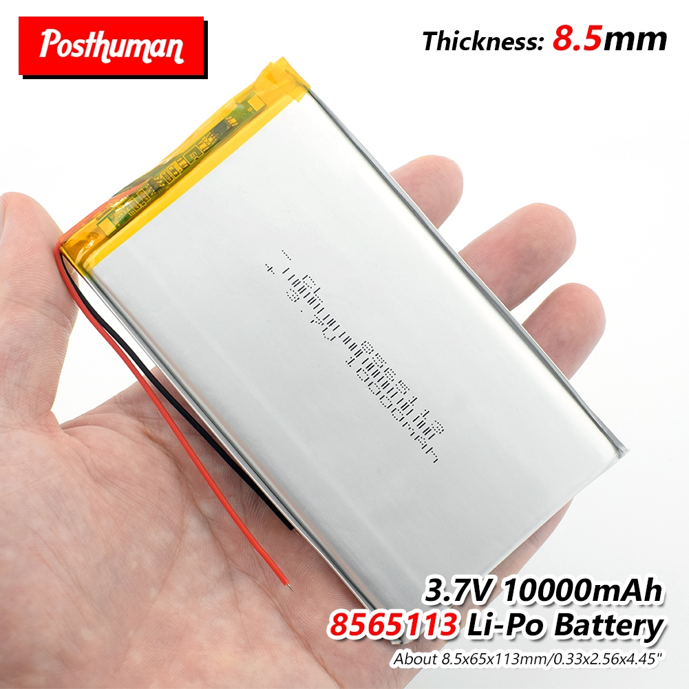 PÓS-HUMANO 3.7V Bateria Lipo 10000mAh 8565113 Com PCM Para Tablet DVD GPS Dispositivo Médico PDA Bluetooth speaker, câmera Digital