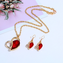 Bohopan Luxury Women Heart Jewelry Set Shining Rhinestone Earrings And Necklace High Quality Female Bohemia Elegant Accessories