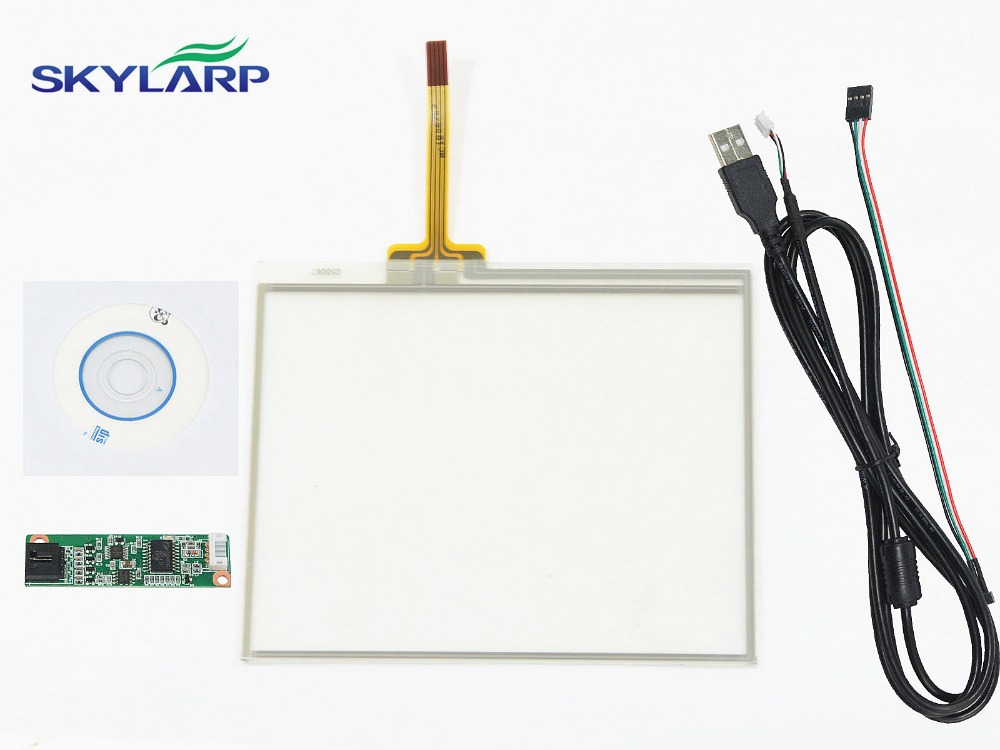 New 5.6Inch 4 Wire Resistive Touch Screen USB Controller Kit 126x99mm For TM056KDH01 Screen touch panel Glass Free shipping new 6 5 inch 4 wire resistive touch screen 143mm 117mm usb controller for g065vn01 screen touch panel glass free shipping