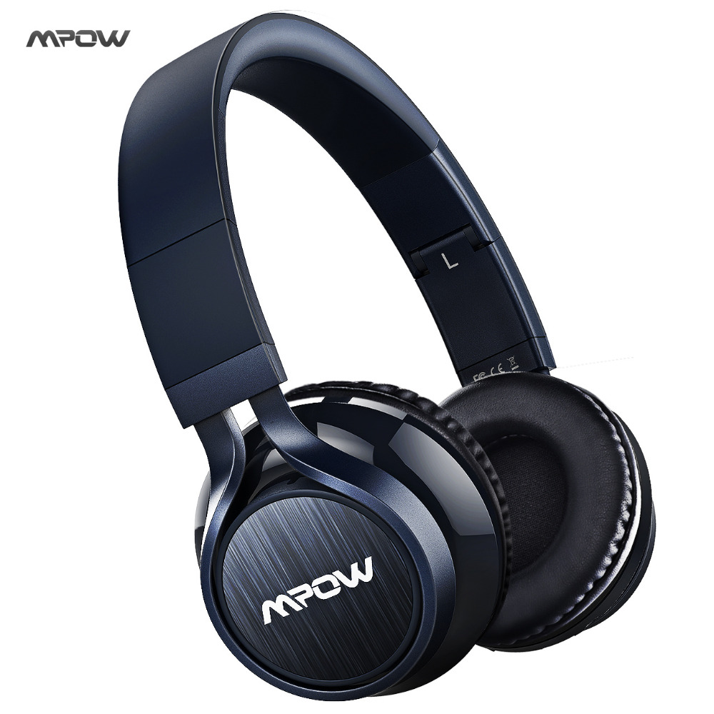 2017 Mpow bluetooth headset wireless bluetooth 4.0 stereo headphone HANDS-FREE 3.5mm jack microphone wired & wireless headphone kanen stereo headphone w microphone red black 3 5mm jack 210cm length