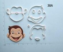 Curious George Cookie Cutter Set Custom Made 3D Printed Fondant Cupcake Kitchen Accessories
