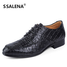 Alligator Leather shoes Men Dress Shoes Fashion Business Shoes For Man Casual Oxford Shoes Working EU 49 50  B175