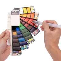 Ensemble d'aquarelle solide de couleur supérieure 18/25/33/42 pinceau à eau pliable pour peinture à l'eau Pigment d'aquarelle créatif pour dessin