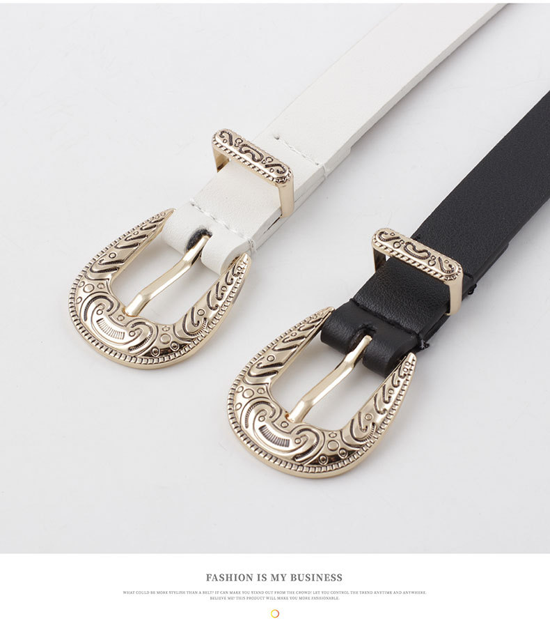 B201//2 Ladies Classic Style Thin Artificial Leather Belt//Snake Skin Look Like