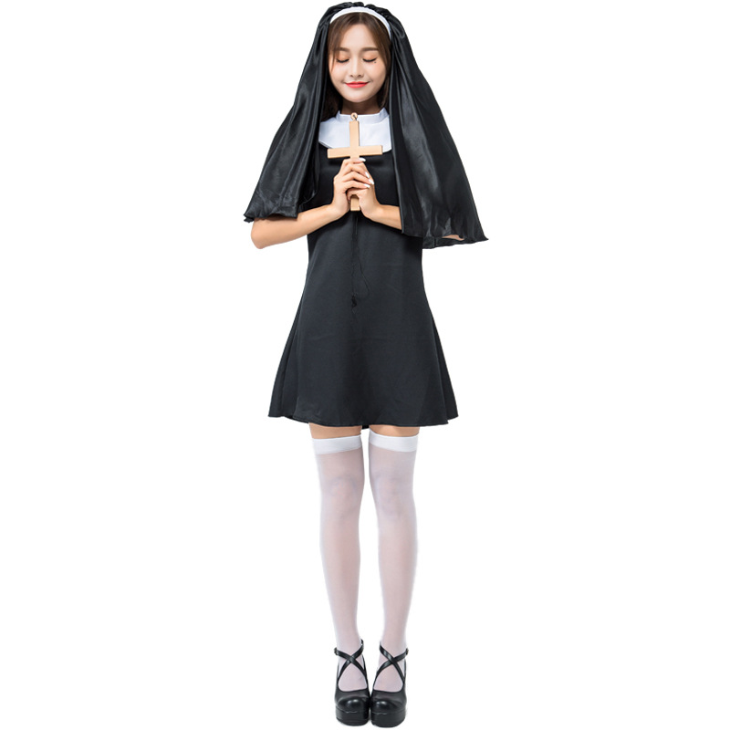 Super Cute Adult Woman Naughty Nun Religion Costume