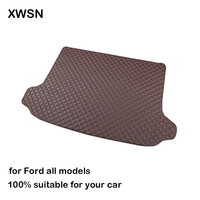 Car trunk mat for ford fiesta ford focus mk2 ford kuga 2018 fusion ranger ecosport auto accessories Protect the car