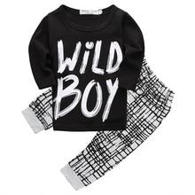 Bebe детской осенью спортивный установить новорожденных мальчик топ одежды длинным ребенок