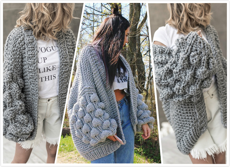 9eba543fba 2019 2018 Autumn Winter Knitted Crochet Sweater For Women Chunky ...